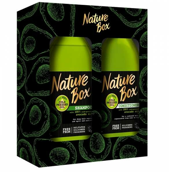 Set - Nature Box Avocado Oil (shmp/385ml + cond/385ml)