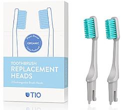 Parfumuri și produse cosmetice Duze înlocuibile pentru periuța de dinți, moi, gri - TIO Toothbrush Soft