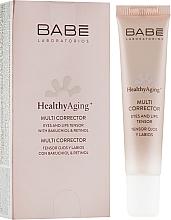 Parfumuri și produse cosmetice Multi-corector cu efect anti-îmbătrânire pentru pielea din jurul ochilor și buzelor - Babe Laboratorios Healthy Aging Multi Corrector