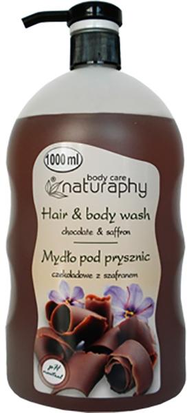 """Șampon-gel de duș """"Ciocolată și șofran"""" - Bluxcosmetics Naturaphy Hair & Body Wash"""