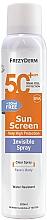 Parfumuri și produse cosmetice Cremă protecție solară pentru față și corp - Frezyderm Sun Screen Invisible SPF50+ Spray