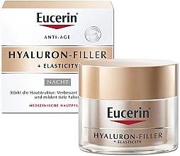 Parfumuri și produse cosmetice Cremă de noapte anti-îmbătrânire pentru față - Eucerin Hyaluron-Filler + Elasticity Night Cream