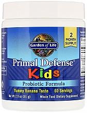 Parfumuri și produse cosmetice Formula probiotică cu aromă de banane - Garden of Life Primal Defense Kids Probiotic Formula