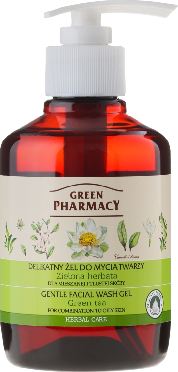 "Gel de curățare delicat ""Ceai verde"" - Green Pharmacy"