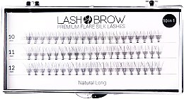 Parfumuri și produse cosmetice Gene false - Lash Brown Premium Flare Silk Lashes Natural Long