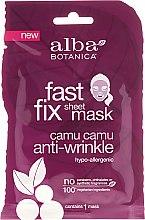 Parfumuri și produse cosmetice Mască de țesut - Alba Botanica Fast Fix Sheet Mask Camu Camu Anti-Wrinkle