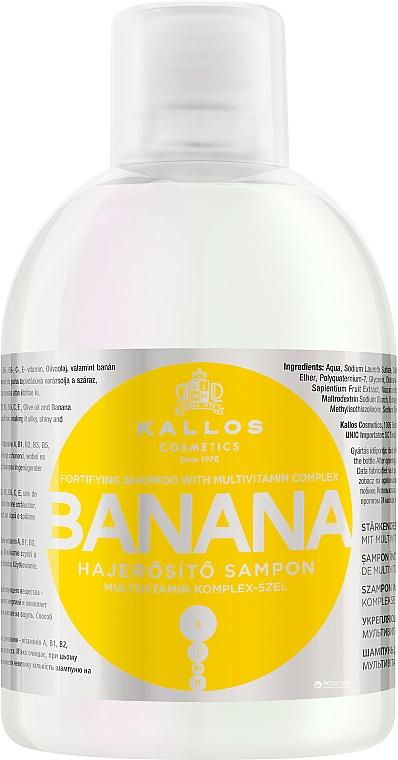 Șampon fortifiant cu extract de banane și complex de multivitamine - Kallos Cosmetics Banana Shampoo