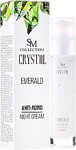 Parfumuri și produse cosmetice Cremă de noapte anti-îmbătrânire cu extract de smarald natural - SM Collection Crystal Emerald Anti-Aging Night Cream