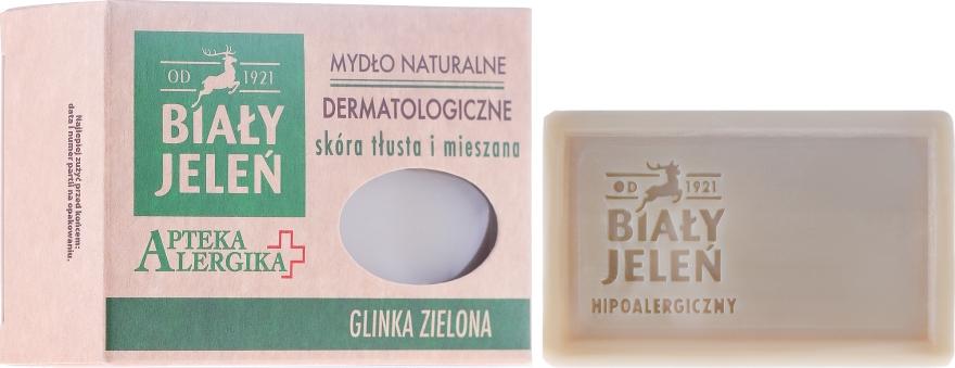 Săpun dermatologic cu argilă verde - Bialy Jelen Apteka Alergika Soap — Imagine N1