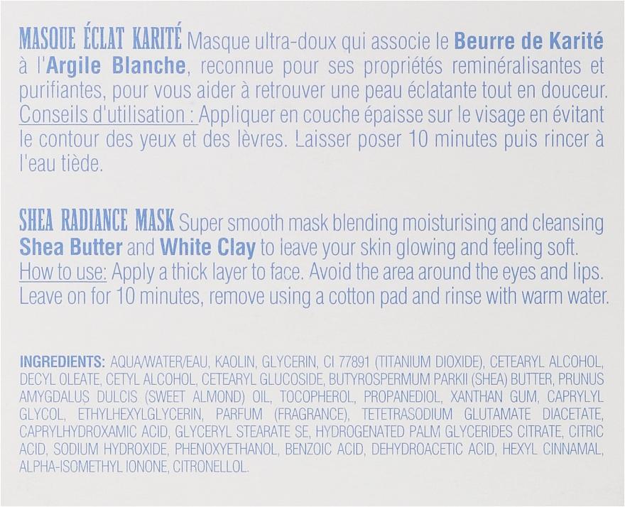Mască regenerantă de față - Institut Karite Shea Radiance Cream — Imagine N3