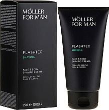 Parfumuri și produse cosmetice Cremă de ras - Anne Moller Man Flashtec Shaving Face And Body Shaving Cream