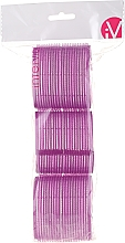 Parfumuri și produse cosmetice Bigudiuri Velcro, 499592, mov - Inter-Vion