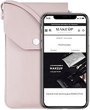 """Parfumuri și produse cosmetice Husă-gentuță pentru telefon, roz pudrat """"Cross"""" - Makeup Phone Case Crossbody Powder"""