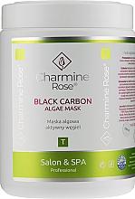 Parfumuri și produse cosmetice Mască alginată cu cărbune activ pentru față - Charmine Rose Black Carbon Algae Mask