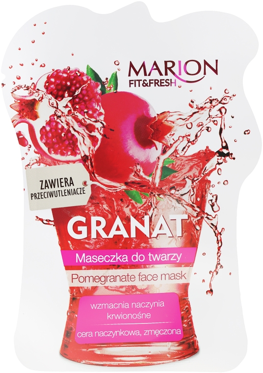 "Mască de față ""Rodie"" - Marion Fit & Fresh Pomegranate Face Mask"