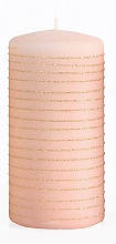 Parfumuri și produse cosmetice Lumânare decorativă, roz-auriu, 7x10 cm - Artman Andalo