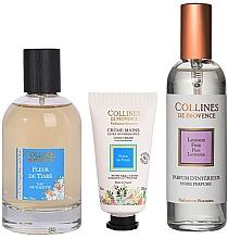 Parfumuri și produse cosmetice Collines De Provence Tiare Flower - Set (edt/100ml + h/cr/30ml + aroma/spray/100ml)