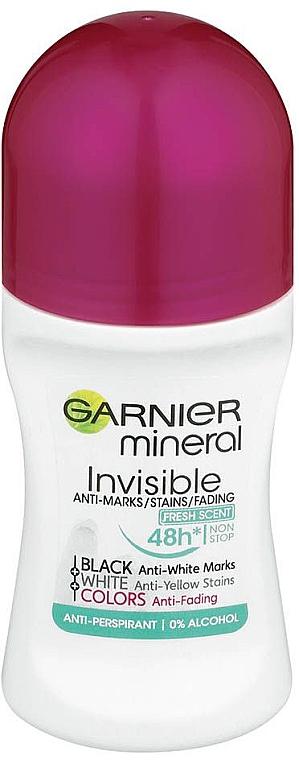 Deodorant roll-on - Garnier Roll On Mineral Black & White Fresh Scent — Imagine N1