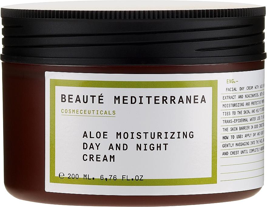 Cremă hidratantă cu aloe pentru față - Beaute Mediterranea Aloe Moisturizing Day And Night Cream — Imagine N2