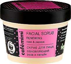 Parfumuri și produse cosmetice Scrub de față - Cafe Mimi Facial Scrub Renewing
