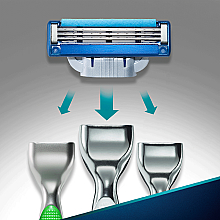 Casete de rezervă pentru aparat de ras - Gillette Mach3 Turbo — Imagine N7
