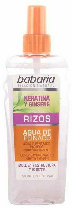 Spray de păr, fixare puternică - Babaria Ginseng Curly Styling Water Keratin & Ginseng — Imagine N1