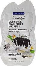 """Parfumuri și produse cosmetice Mască de față cu nămol """"Cărbune și zahăr negru"""" - Freeman Feeling Beautiful Charcoal & Black Sugar Mud Mask (miniatură)"""