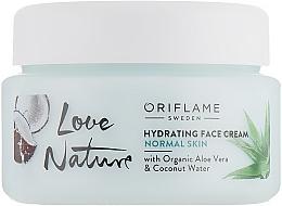 Cremă hidratantă pentru față - Oriflame Love Nature Hydrating Face Cream — Imagine N1