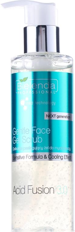 Gel scrub pentru față - Bielenda Professional Acid Fusion 3.0 Gentle Face Gel Scrub  — Imagine N1