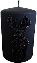 Parfumuri și produse cosmetice Lumânare decorativă, neagră, 7x10 cm - Artman Jelen Application (Deep Application)
