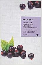 Parfumuri și produse cosmetice Mască de țesut cu extract de fructe Acai - Mizon Joyful Time Essence Mask Acai Berry