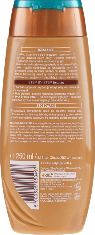 Autobronzant pentru corp - Perfecta I Love Bronze Serum — Imagine N2