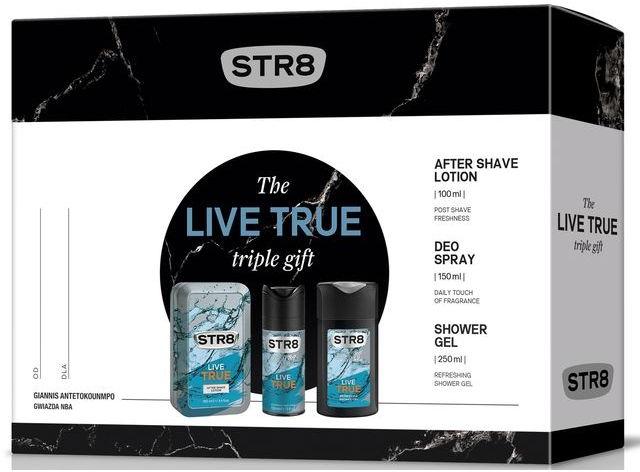 STR8 Live True - Set (ash/lot/100ml + deo/150ml + sh/gel/250ml)  — Imagine N1