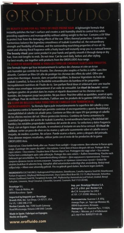 Elixir pentru păr - Orofluido Asia Zen Control Elixir — Imagine N4