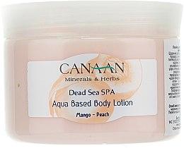 """Parfumuri și produse cosmetice Loțiune pe bază de apă pentru corp """"Mango-Piersică"""" - Canaan Minerals & Herbs Aqua Based Body Lotion Mango-Peach"""