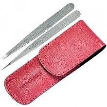 Parfumuri și produse cosmetice Set - Tweezerman Point Slant, husă roz