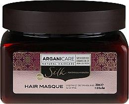 Parfumuri și produse cosmetice Mască cu proteine de mătase pentru păr - Arganicare Silk Hair Masque