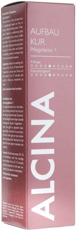 Mască de păr - Alcina Hair Care Factor 1 Restorative Treatment  — Imagine N1
