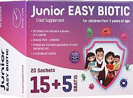 """Parfumuri și produse cosmetice Supliment alimentar pentru copii """"Probiotic"""", în pliculețe - Noble Health Junior Easy Biotic"""