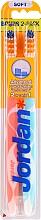 Parfumuri și produse cosmetice Periuță de dinți, moale Advanced, mentă + roz deschis - Jordan Advanced Soft Toothbrush