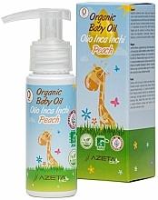 Parfumuri și produse cosmetice Ulei de piersici cu extract de Sacha Inchi pentru copii - Azeta Bio Organic Baby Peach Oil Inca Inchi