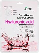 Parfumuri și produse cosmetice Mască de țesut cu acid hialuronic - Ekel Super Natural Ampoule Mask Hyaluronic Acid