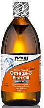 Parfumuri și produse cosmetice Ulei de pește Omega-3, aromă de lămâie - Now Foods Omega-3 Fish Oil Lemon Flavored