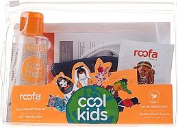 Parfumuri și produse cosmetice Set - Roofa Cool Kids (h/gel/100ml + gel/shm/3g + blue/mask/1pcs)