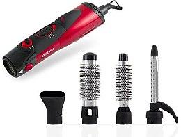 Parfumuri și produse cosmetice Uscator-perie rotativă pentru păr, 4 în 1, 40.989, roșie - Beper