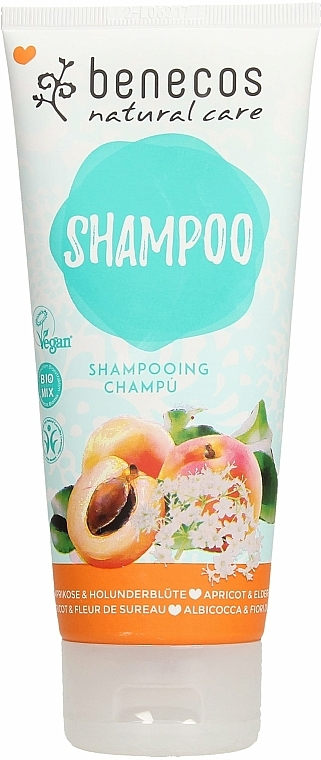 "Șampon ""Caise și soc"" - Benecos Natural Care Apricot & Elderflower Shampoo — Imagine N1"