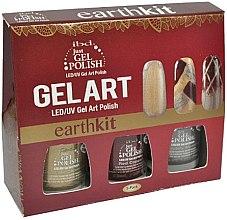 Parfumuri și produse cosmetice Set - IBD Just Gel Art Kit Earth (nail/lacquer/7,4mlx3)