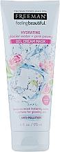 """Parfumuri și produse cosmetice Mască cremă cu gel """"Apă glaciară și bujor roz"""" - Freeman Feeling Beautiful Gel Cream Mask"""