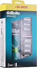 Parfumuri și produse cosmetice Set - Gillette Mach 3 (8 rezerve + gel/200ml)