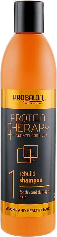 Șampon fără sulfat pentru păr - Prosalon Protein Therapy + Keratin Complex Rebuild Shampoo
